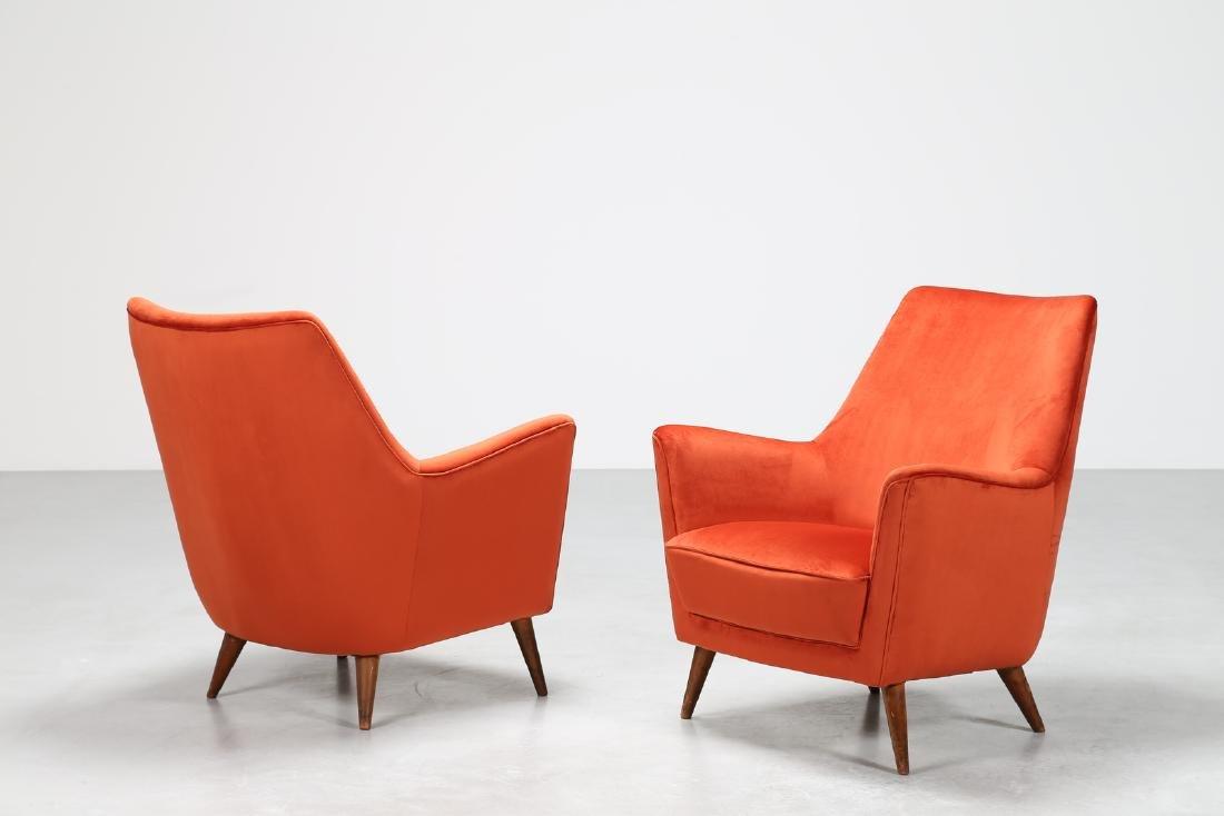 MANIFATTURA ITALIANA  Pair of wood and leather