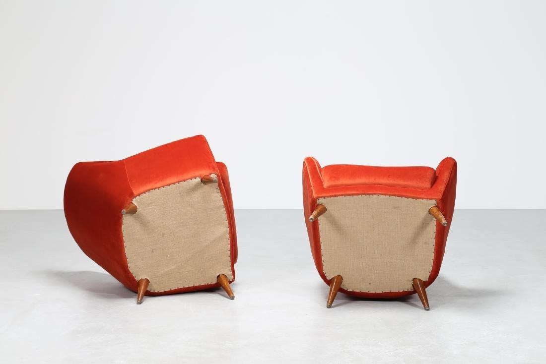 MANIFATTURA ITALIANA  Pair of wood and leather - 3