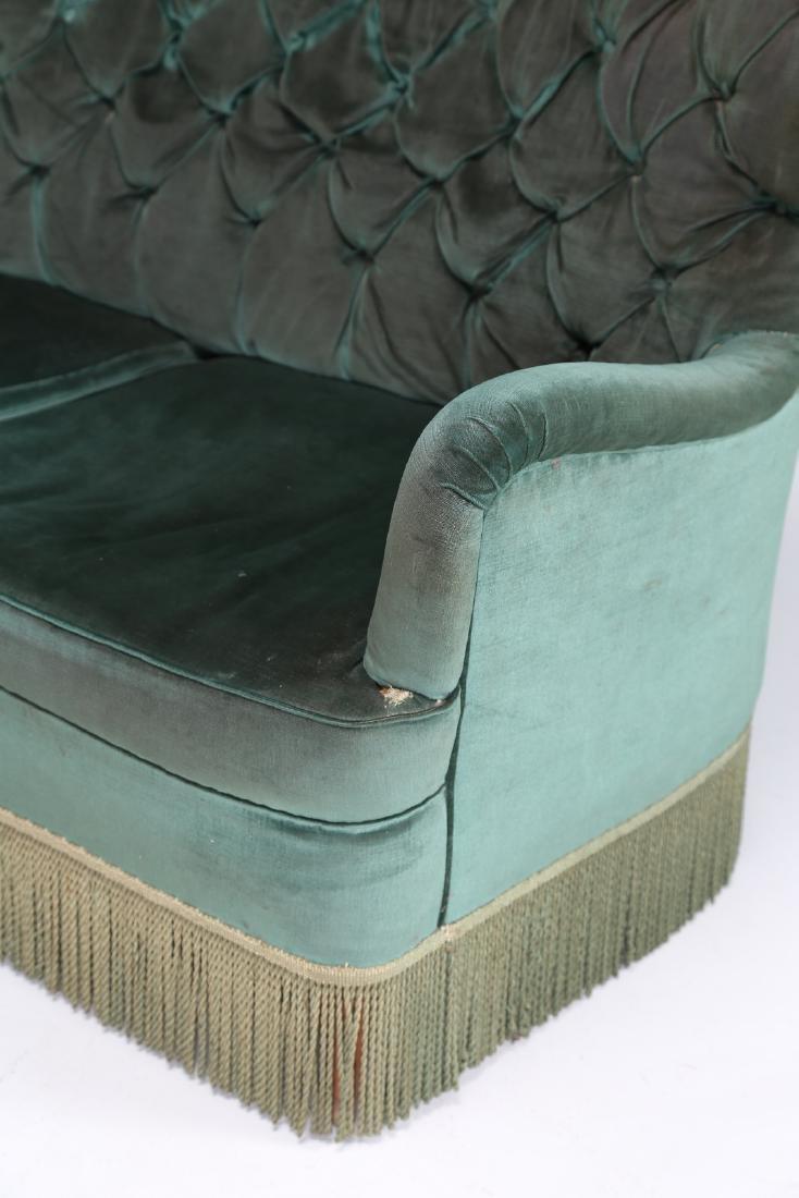 OSVALDO BORSANI Corner sofa in wood and original fabric - 4