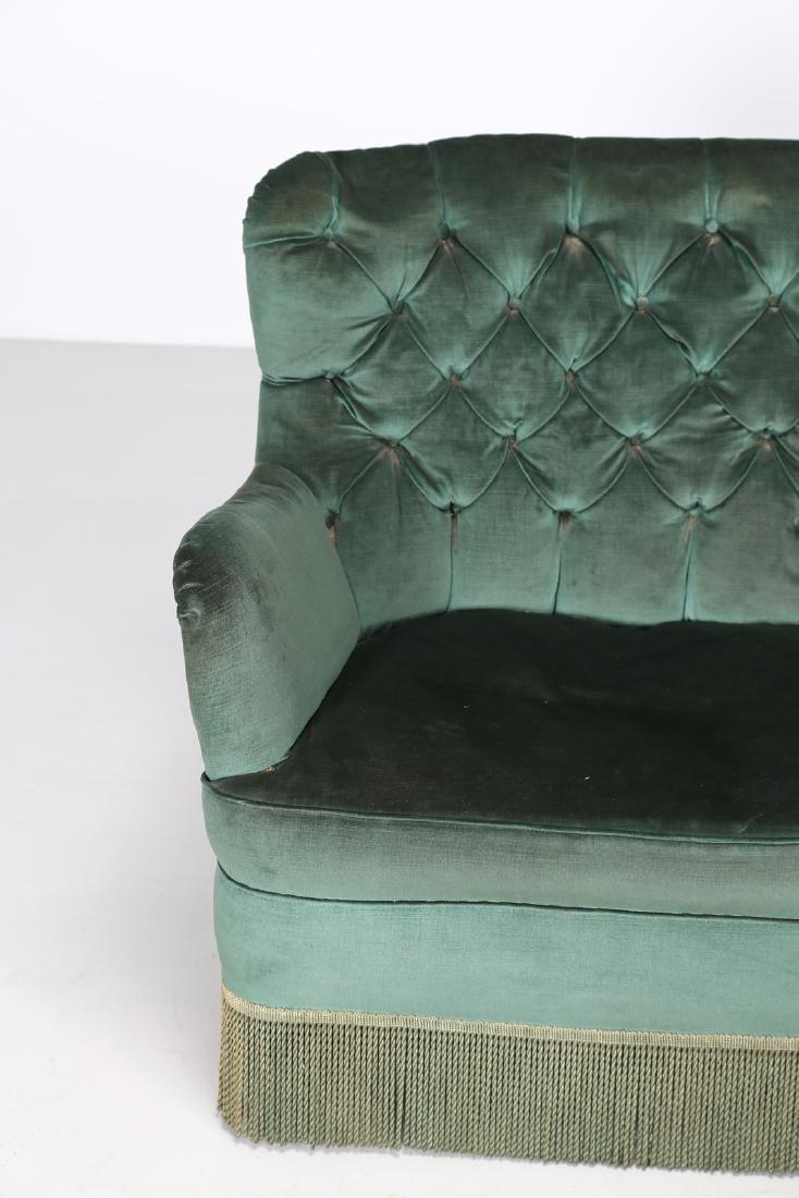OSVALDO BORSANI Corner sofa in wood and original fabric - 5