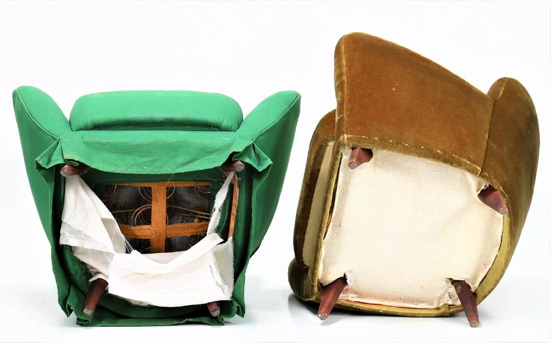 GUGLIELMO VERONESI Pair of wood and fabric armchairs, - 3