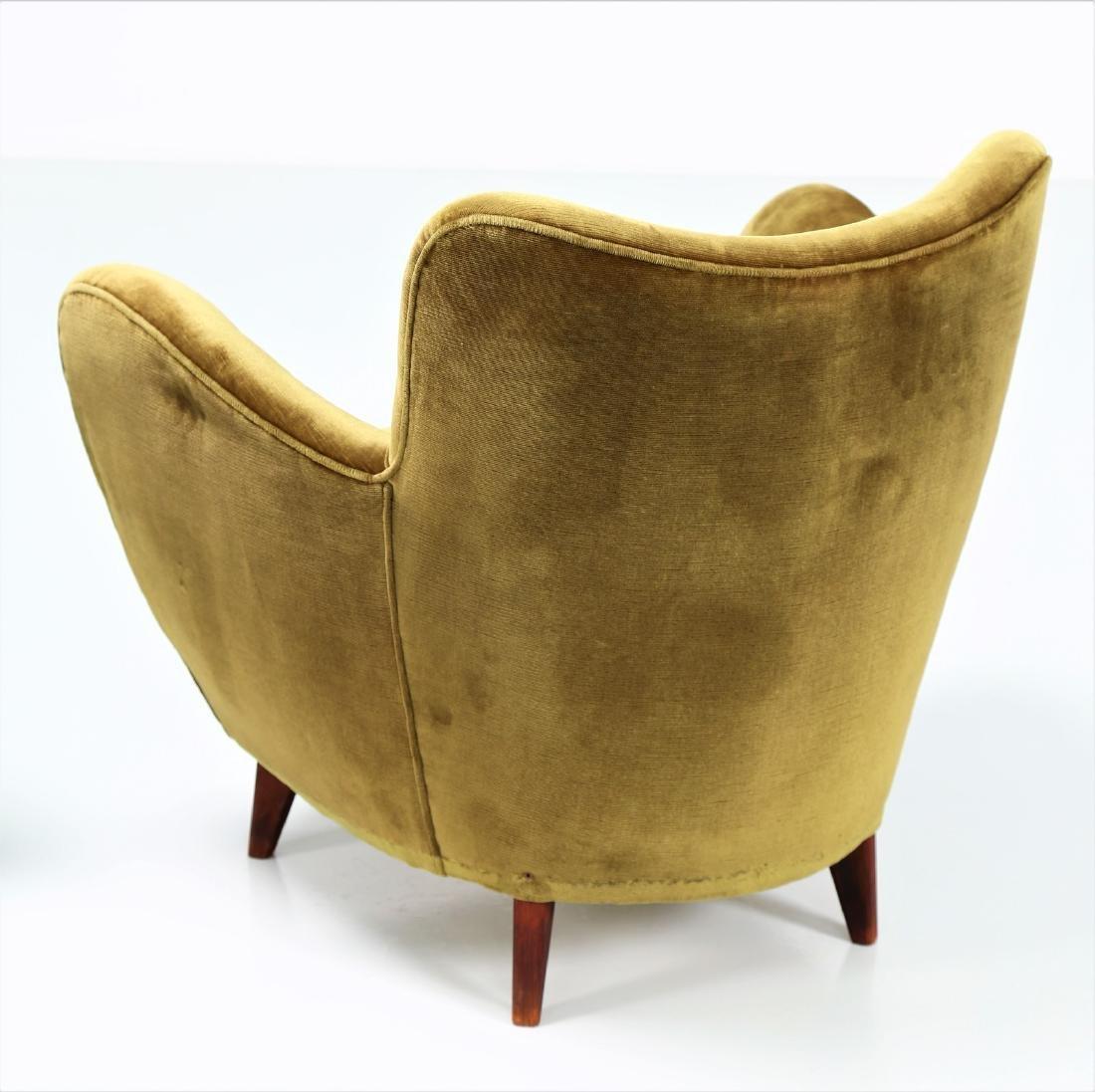 GUGLIELMO VERONESI Pair of wood and fabric armchairs, - 6
