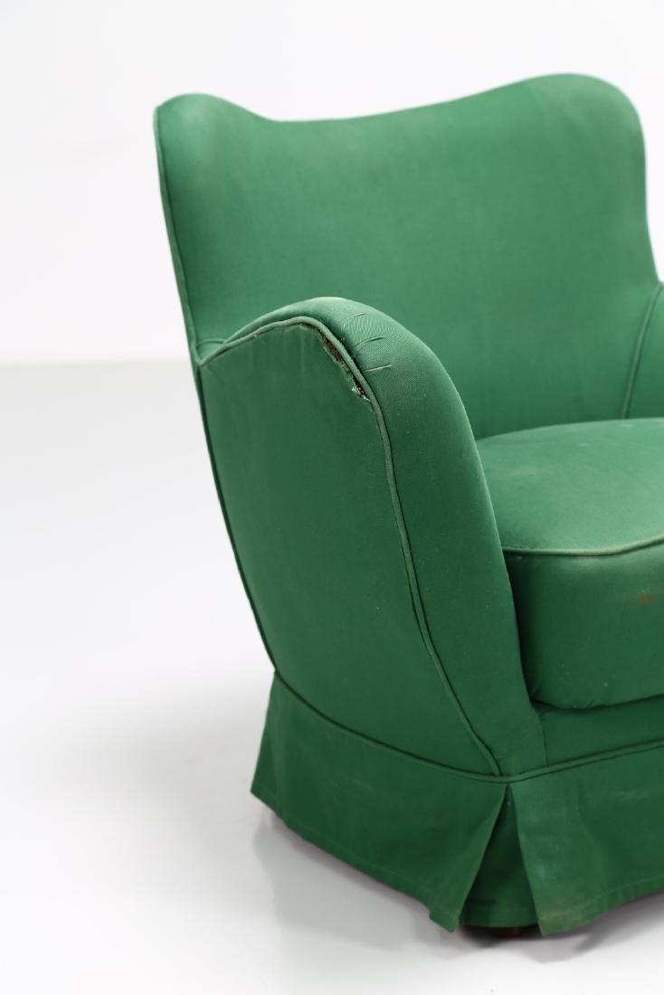 GUGLIELMO VERONESI Pair of wood and fabric armchairs, - 7