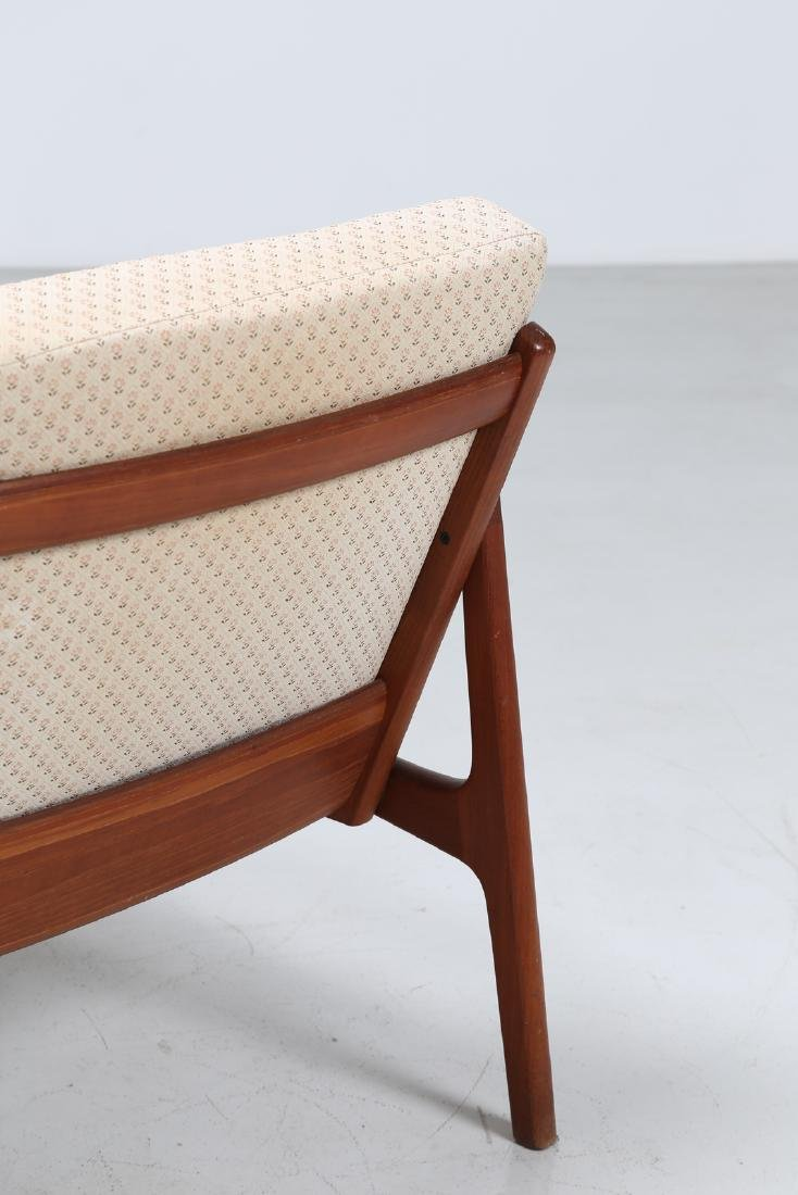 OLE  WANSCHER Armchair and footstool in teak and - 5