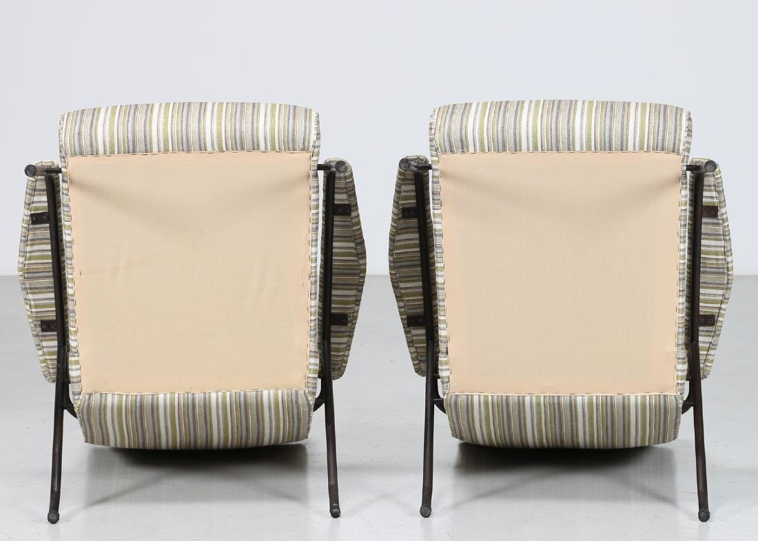 MANIFATTURA ITALIANA  Pair of armchairs in fabric and - 3