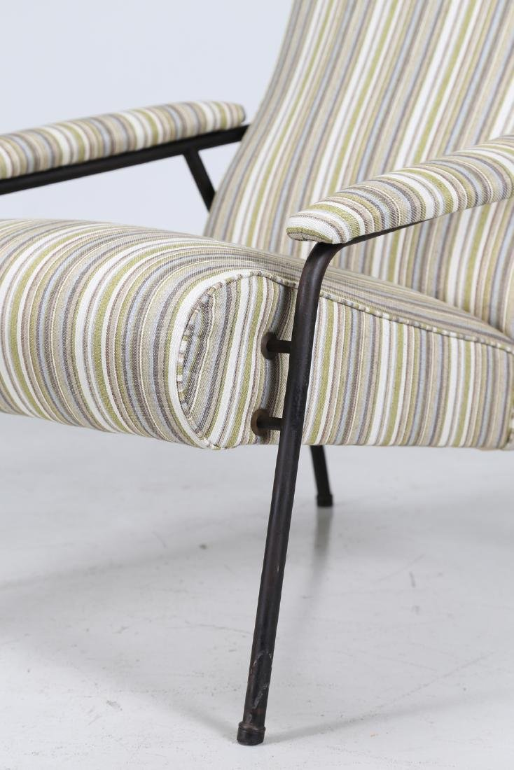 MANIFATTURA ITALIANA  Pair of armchairs in fabric and - 4