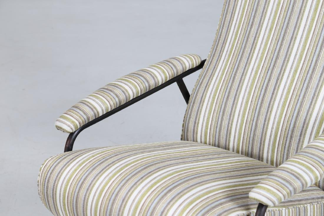 MANIFATTURA ITALIANA  Pair of armchairs in fabric and - 6
