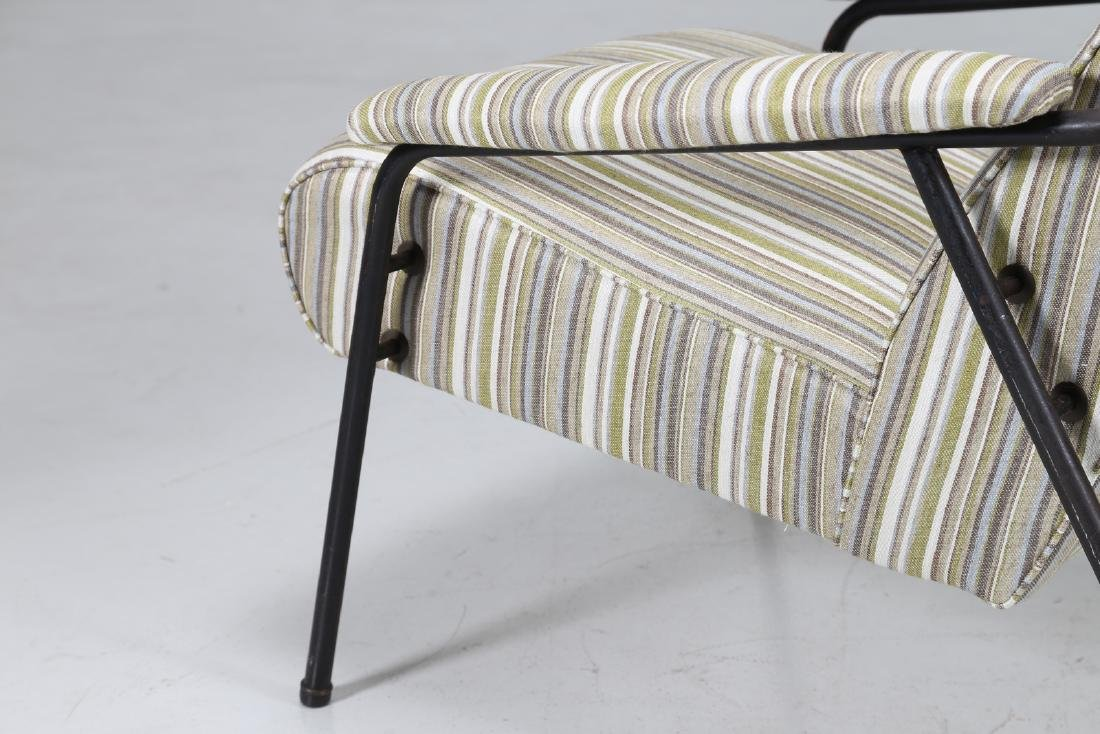 MANIFATTURA ITALIANA  Pair of armchairs in fabric and - 8