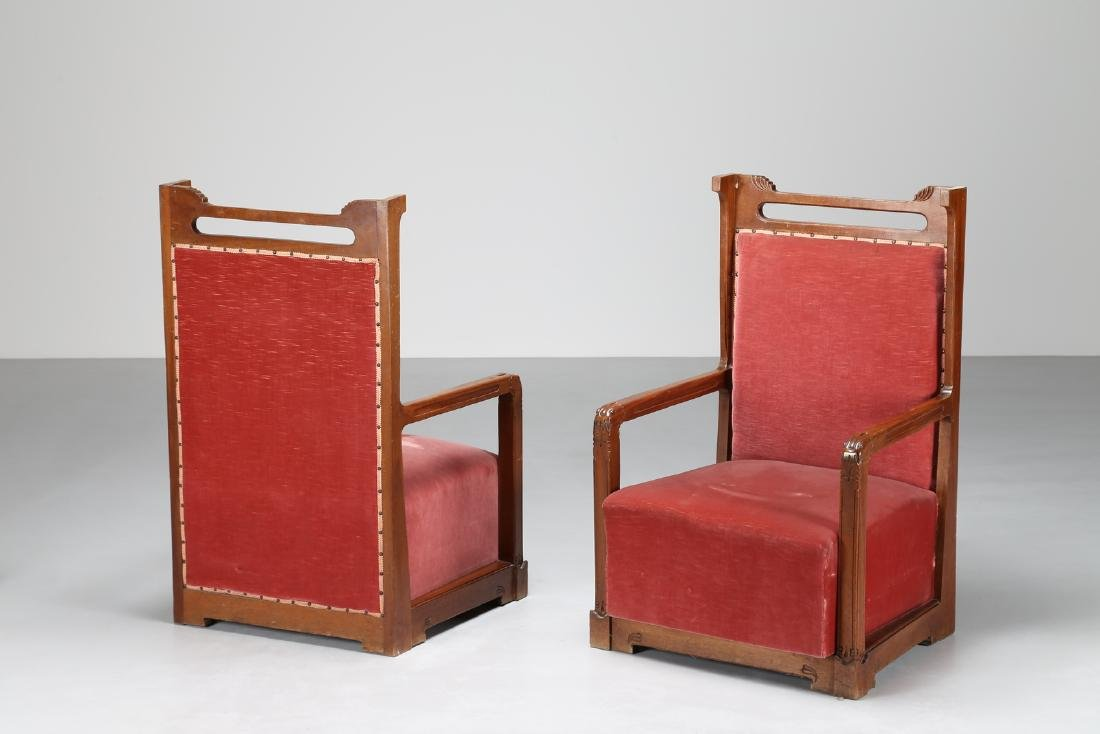 ANGELO  SELLO For cabinetmakers G. Sello, Udine. Pair