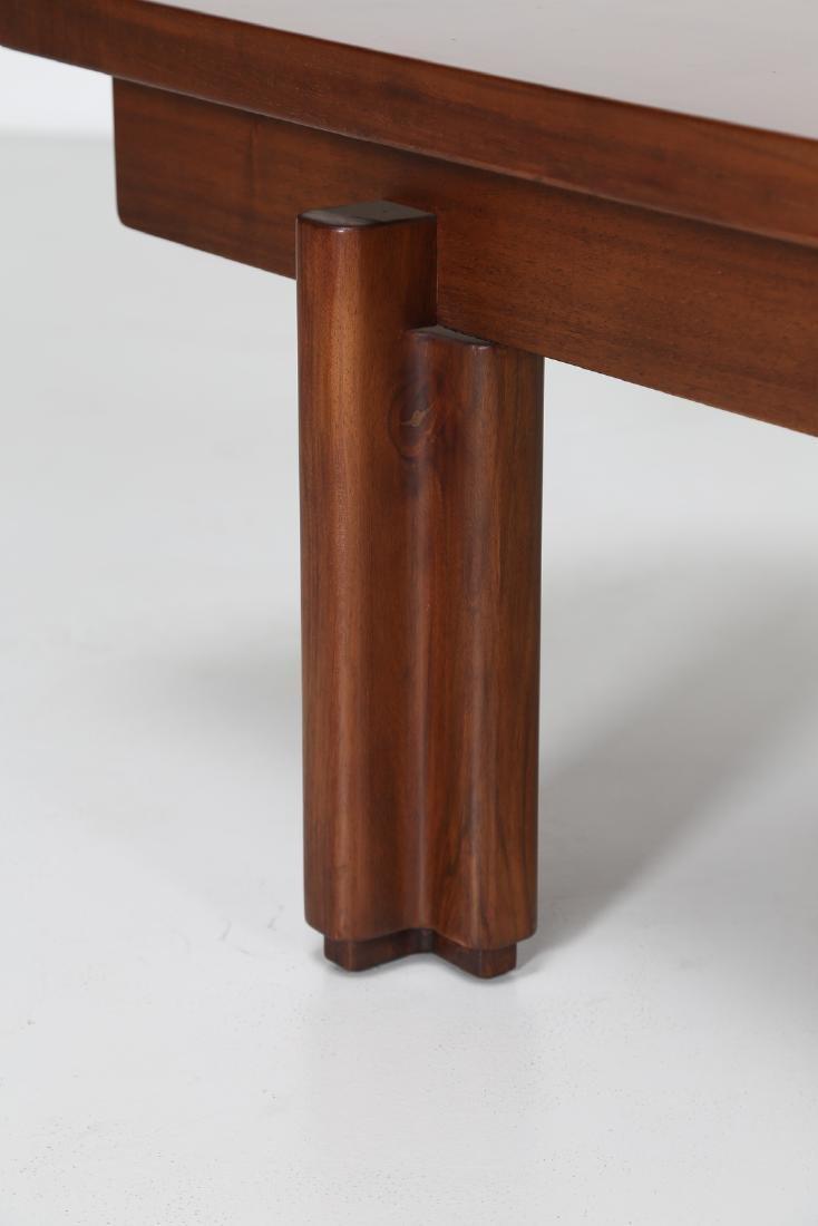 GIOVANNI MICHELUCCI Walnut bench for Fantacci, 70's. - 3