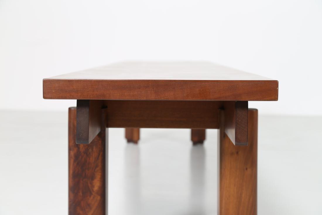 GIOVANNI MICHELUCCI Walnut bench for Fantacci, 70's. - 4