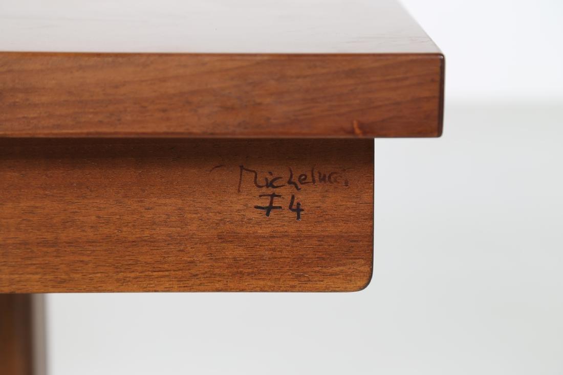GIOVANNI MICHELUCCI Walnut bench for Fantacci, 70's. - 5