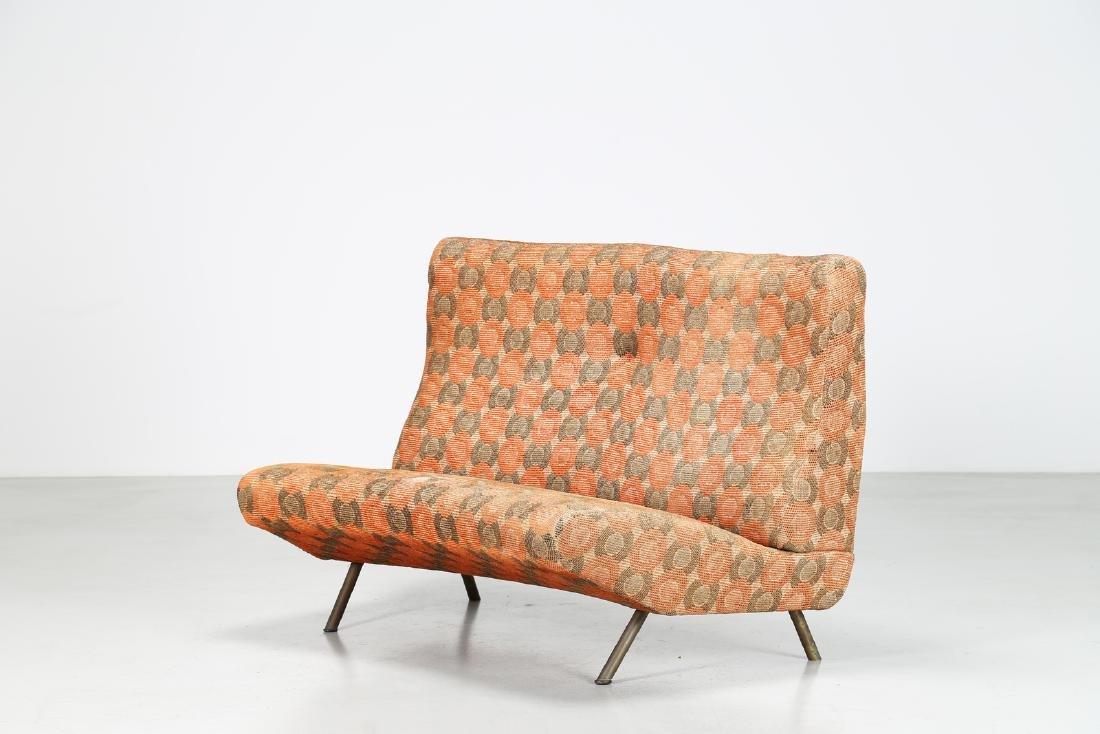 MARCO ZANUSO Sofa in metal and original fabric, IX
