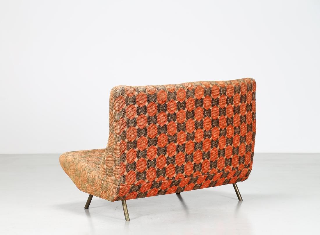 MARCO ZANUSO Sofa in metal and original fabric, IX - 2