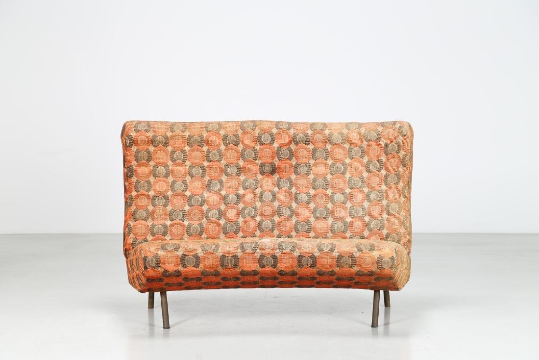 MARCO ZANUSO Sofa in metal and original fabric, IX - 3