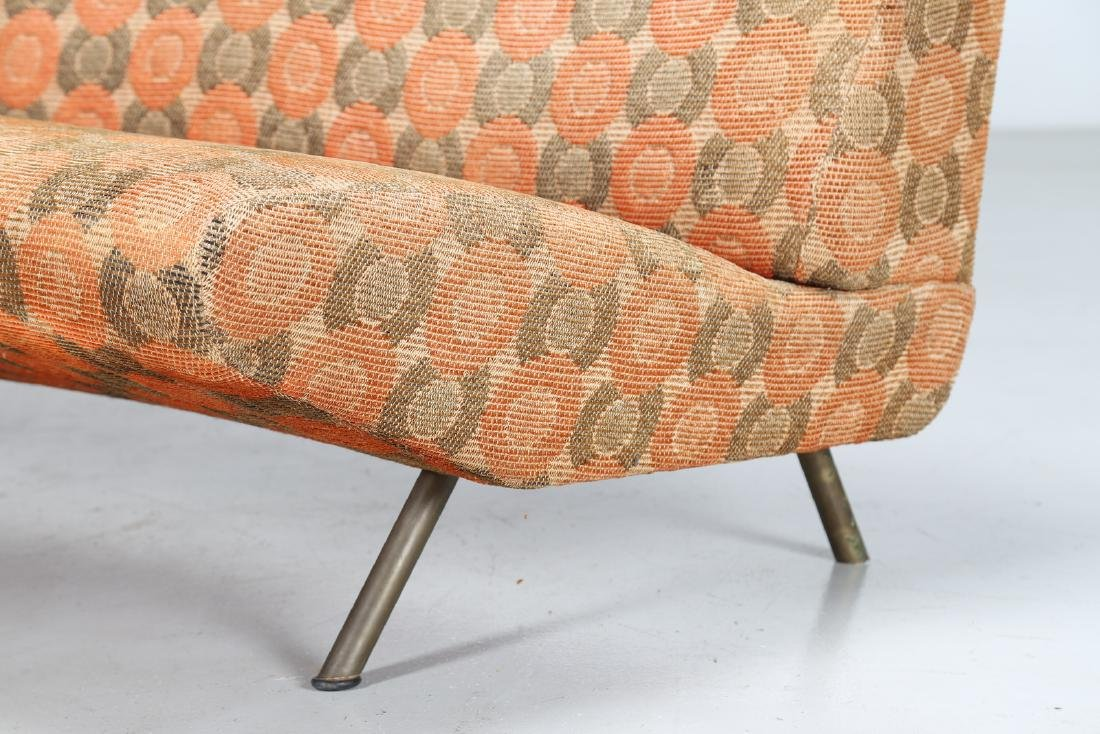 MARCO ZANUSO Sofa in metal and original fabric, IX - 4