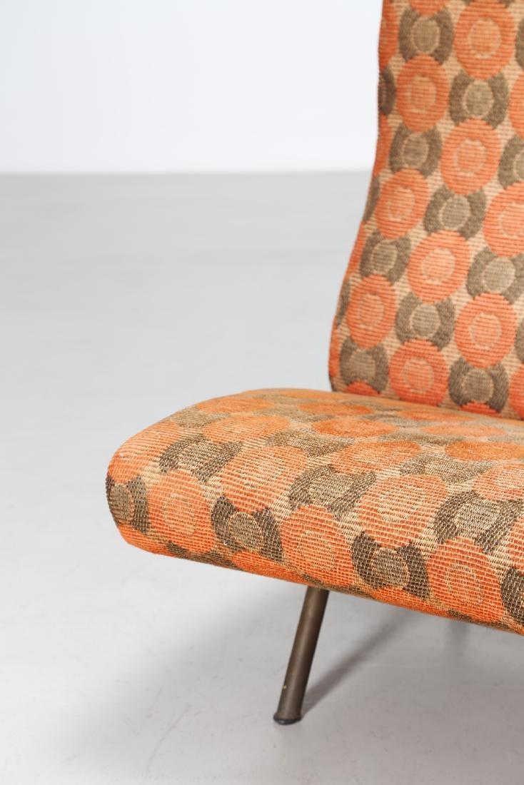 MARCO ZANUSO Sofa in metal and original fabric, IX - 5