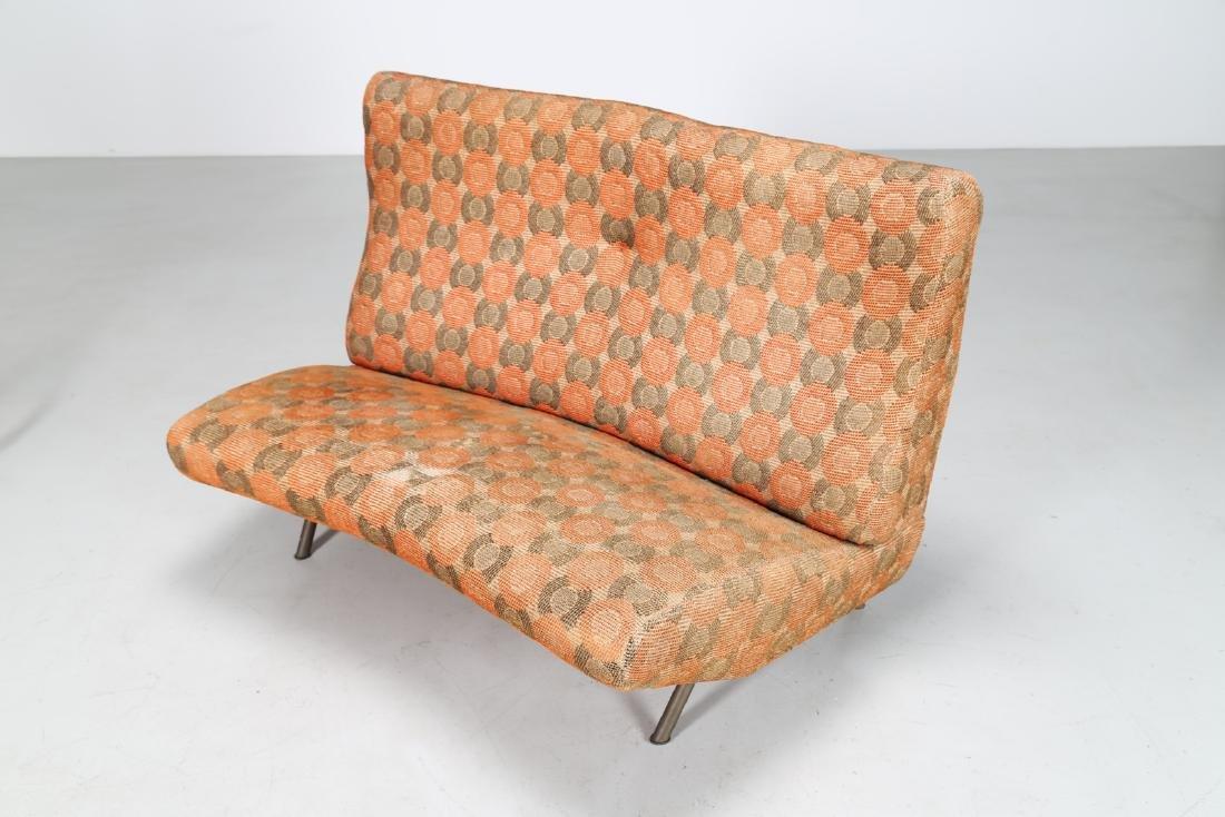 MARCO ZANUSO Sofa in metal and original fabric, IX - 6