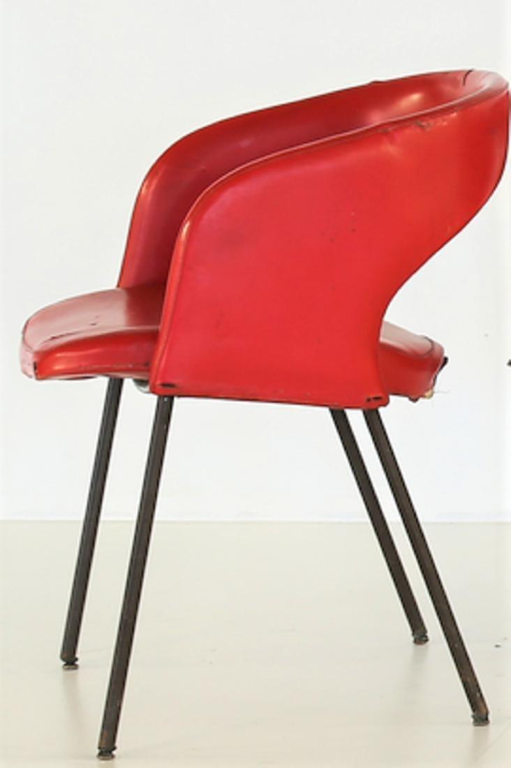 GASTONE RINALDI Six solid metal and skai chairs, model - 2