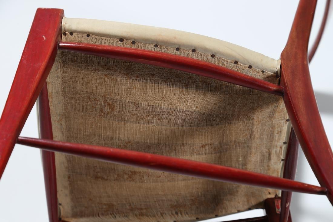 SILVIO CAVATORTA Six mahogany chairs with woven - 6