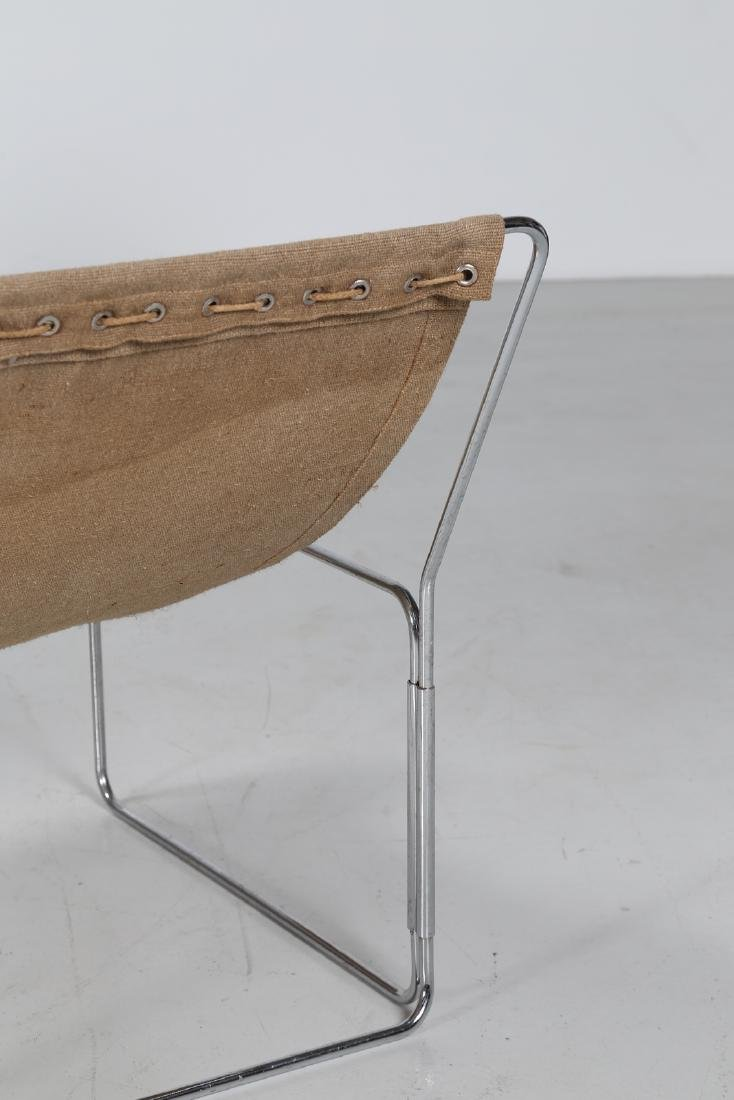 BRIAN  KANE Three easy chairs in metal, wood and - 6
