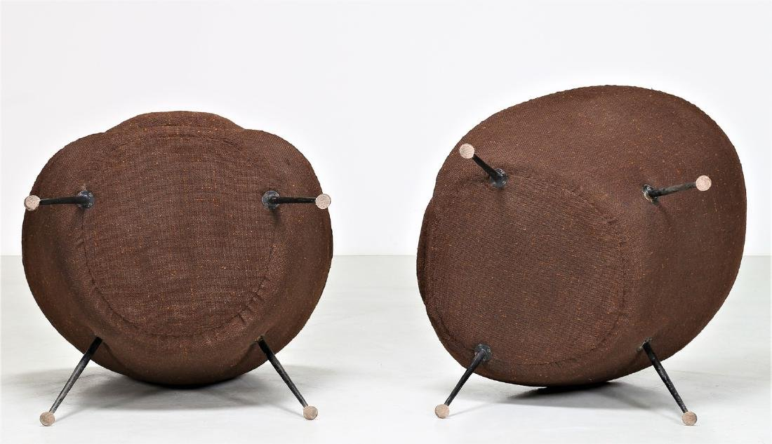 ICO PARISI Distinctive pair of metal and fabric easy - 3