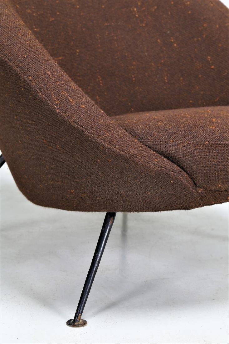 ICO PARISI Distinctive pair of metal and fabric easy - 5