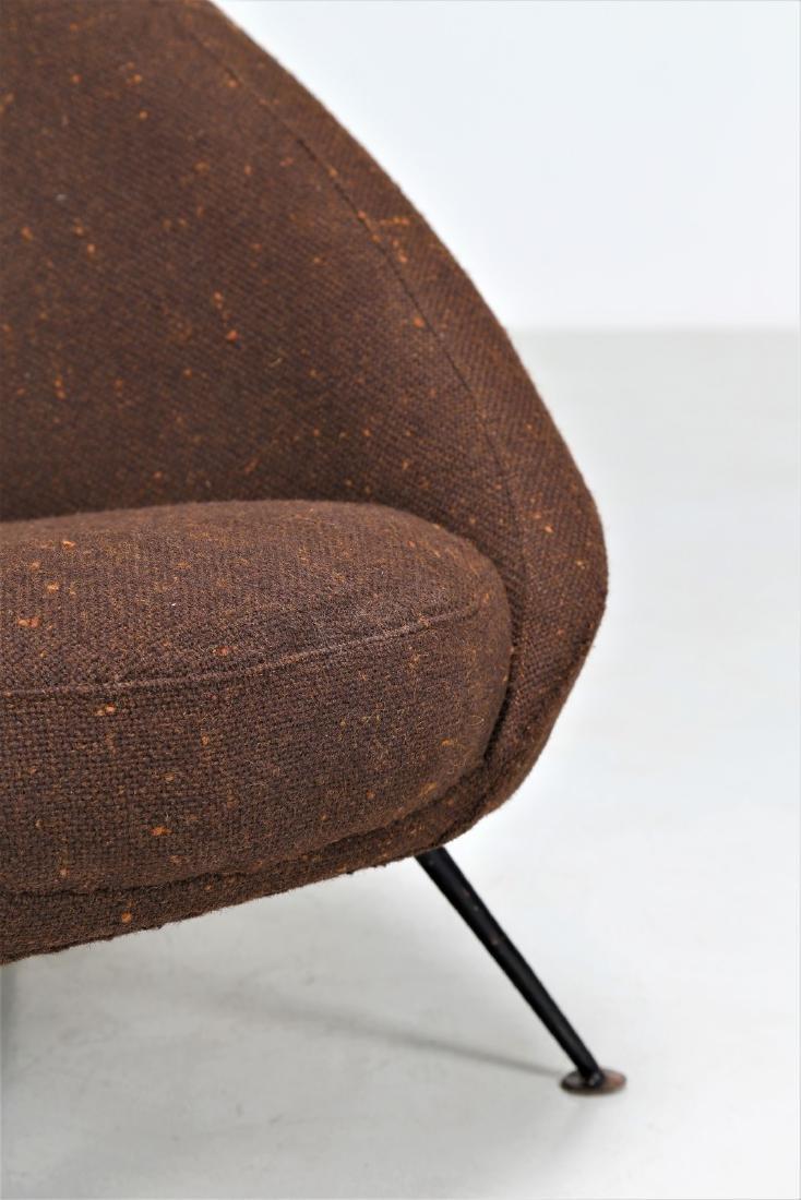 ICO PARISI Distinctive pair of metal and fabric easy - 6