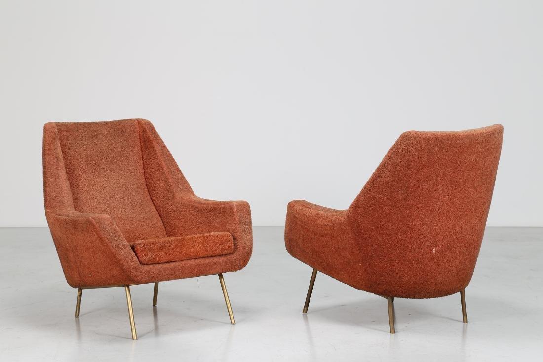 LENZI  Pair of armchairs.