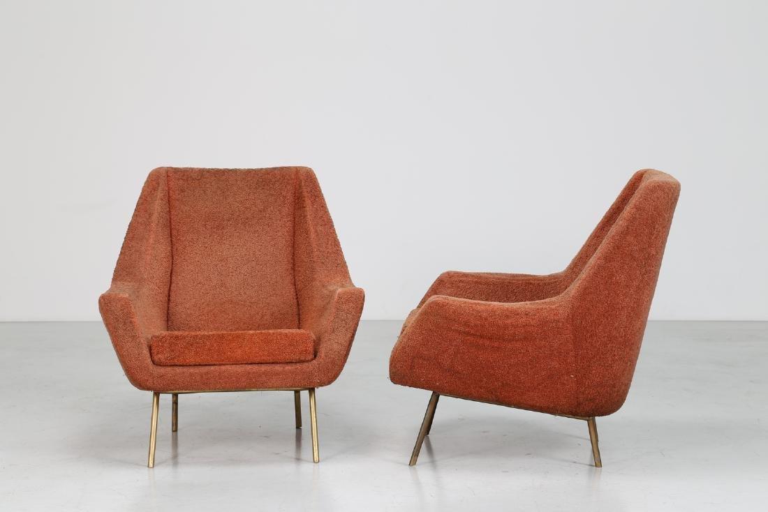 LENZI  Pair of armchairs. - 2
