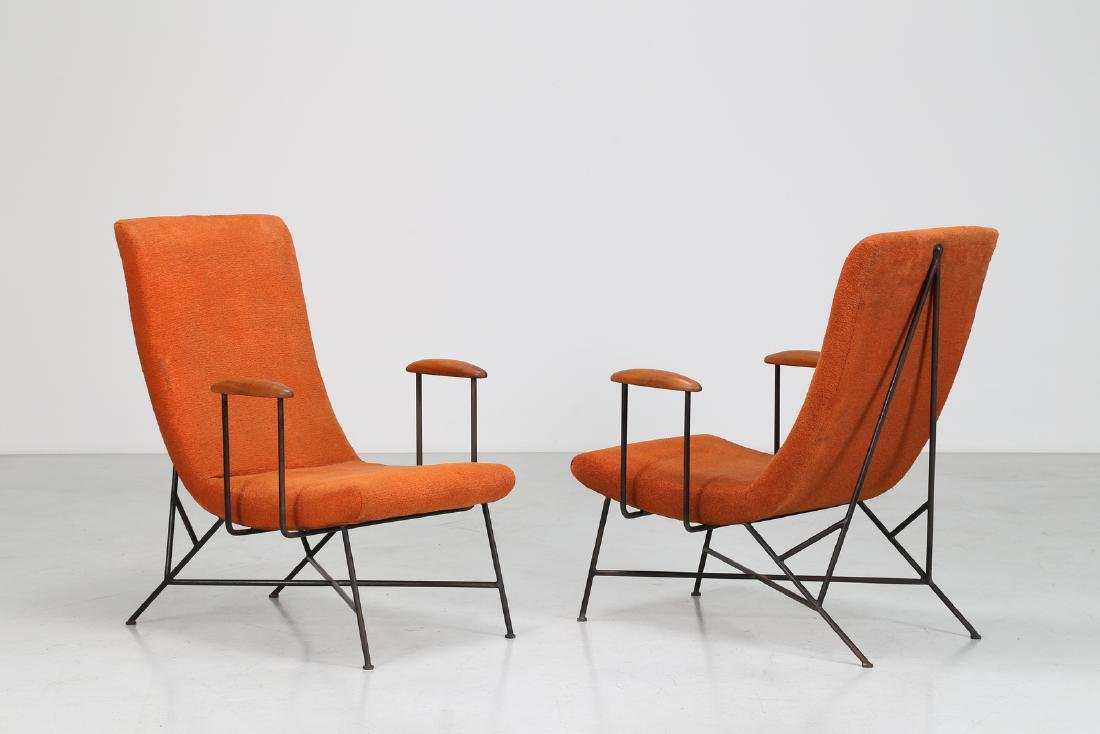 MANIFATTURA ITALIANA  Pair of armchairs.