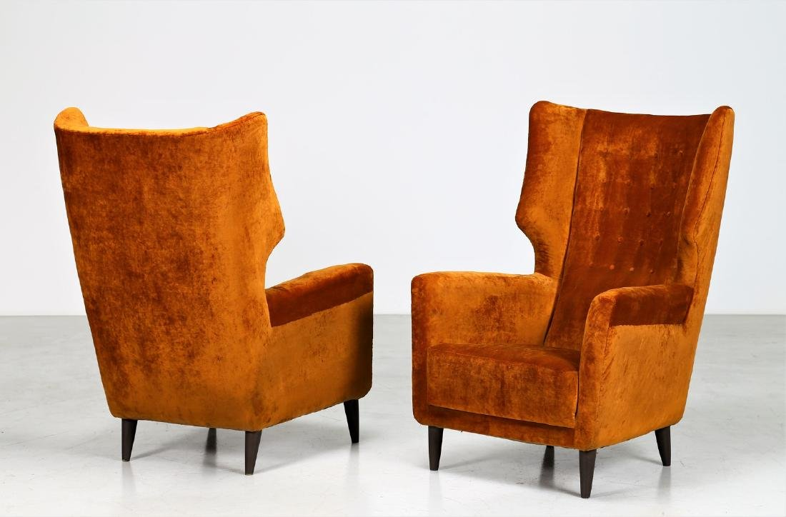 PAOLO CHIOLINI Pair of armchairs.