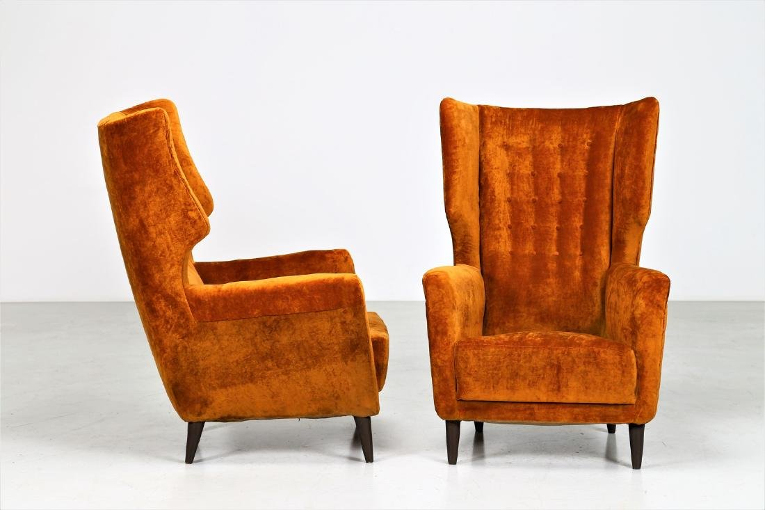 PAOLO CHIOLINI Pair of armchairs. - 2