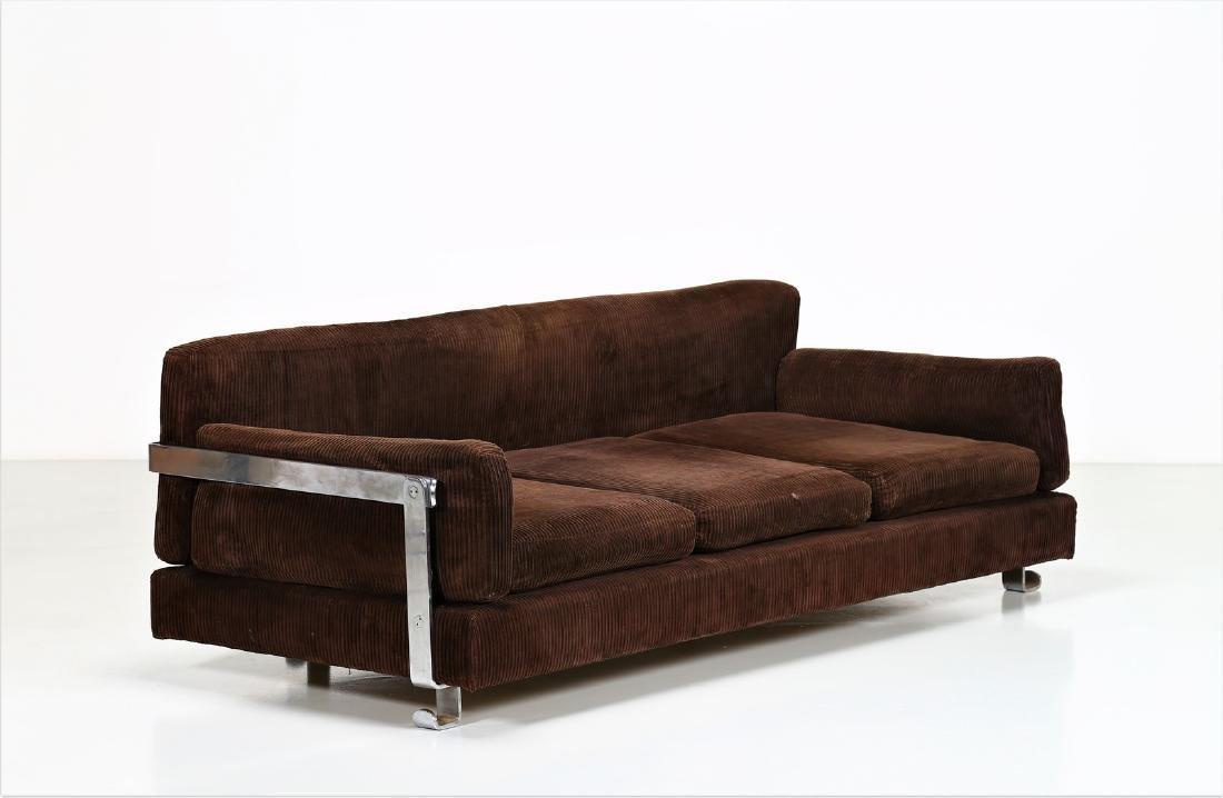 LUIGI CACCIA DOMINIONI Sofa in chromed metal with
