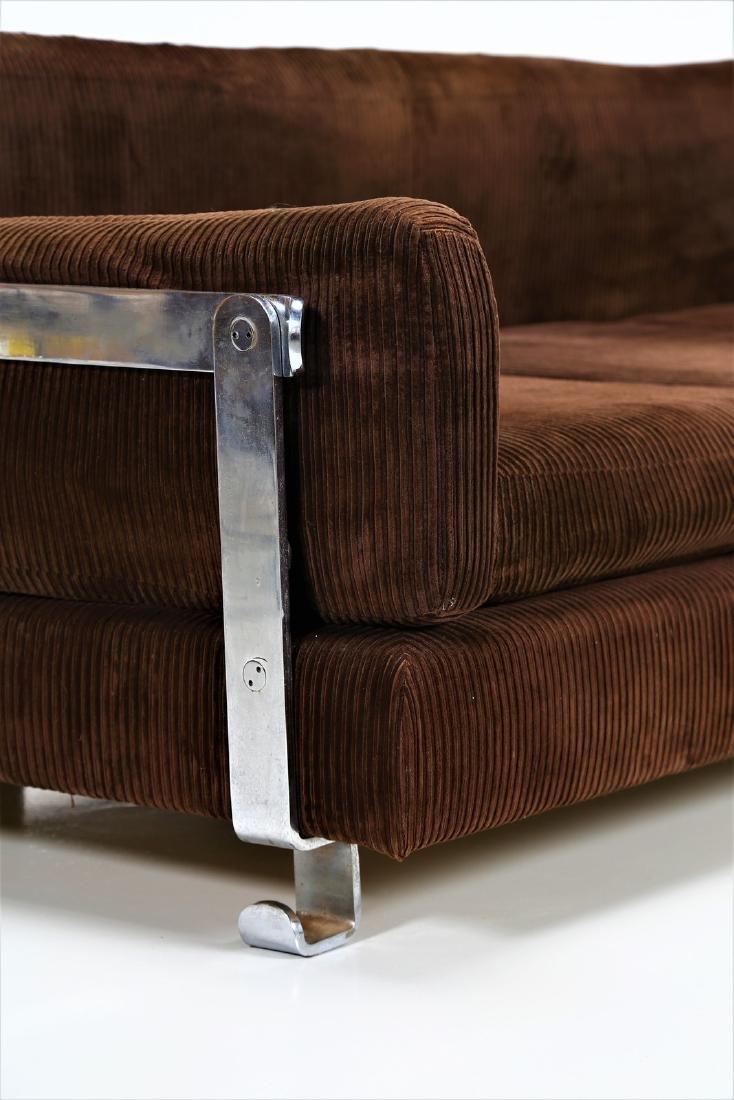 LUIGI CACCIA DOMINIONI Sofa in chromed metal with - 2