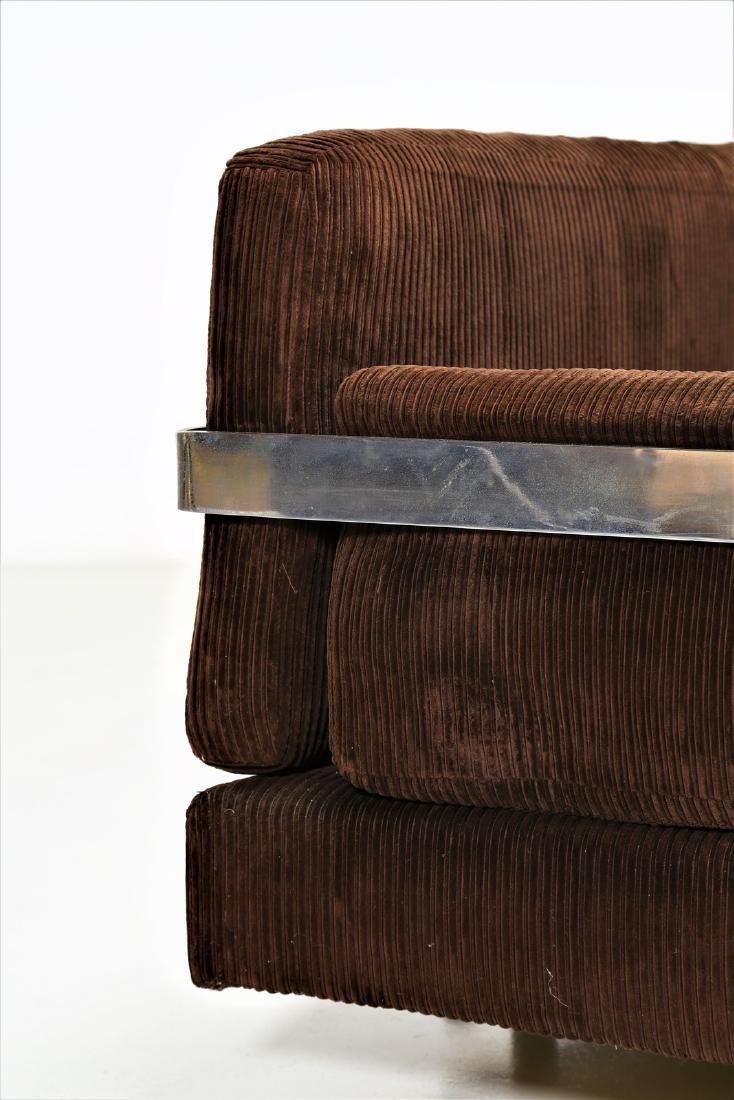 LUIGI CACCIA DOMINIONI Sofa in chromed metal with - 3