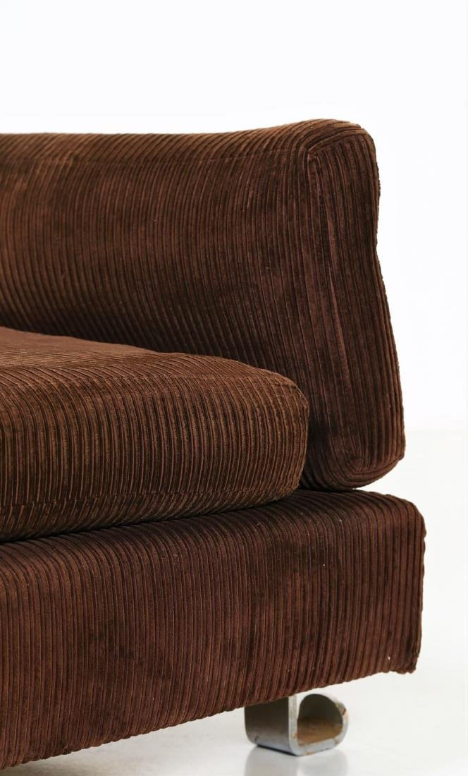 LUIGI CACCIA DOMINIONI Sofa in chromed metal with - 4