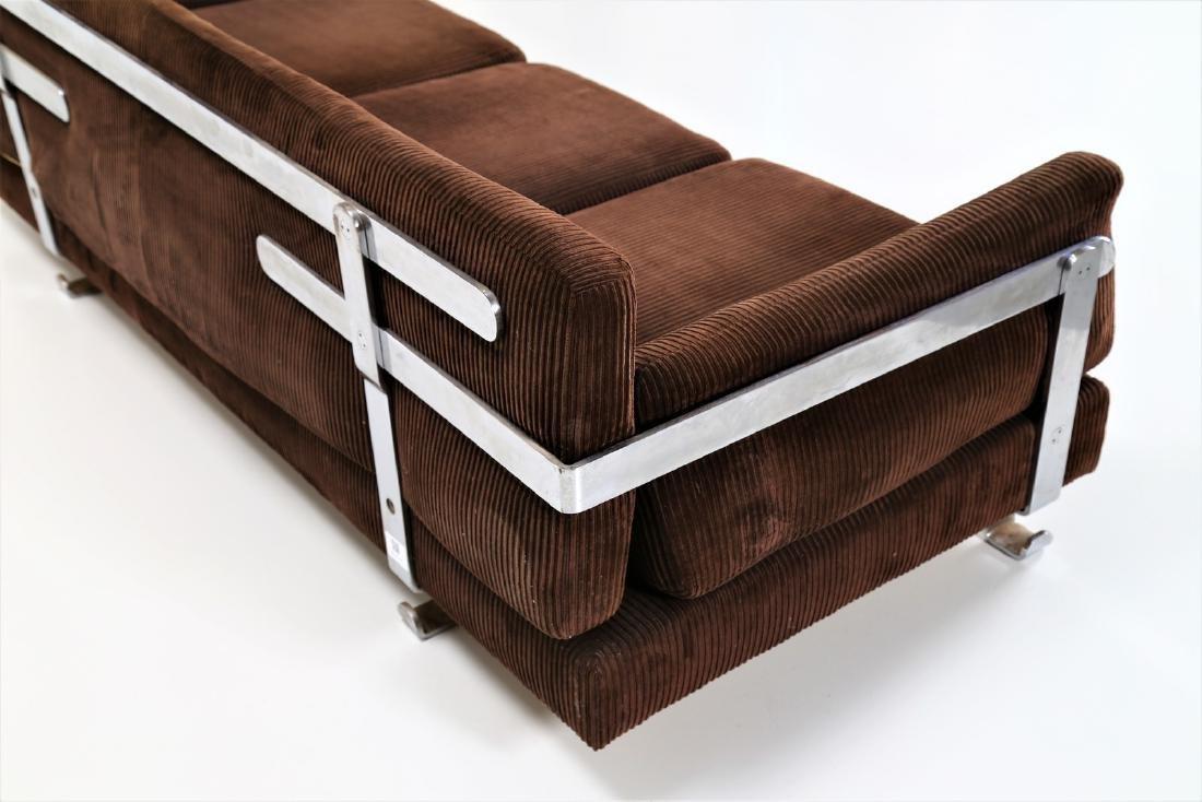 LUIGI CACCIA DOMINIONI Sofa in chromed metal with - 5