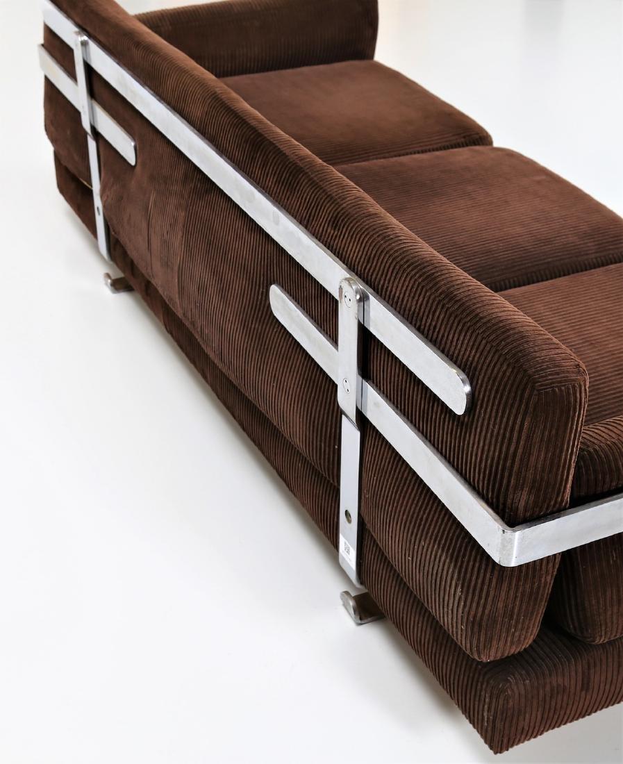 LUIGI CACCIA DOMINIONI Sofa in chromed metal with - 6