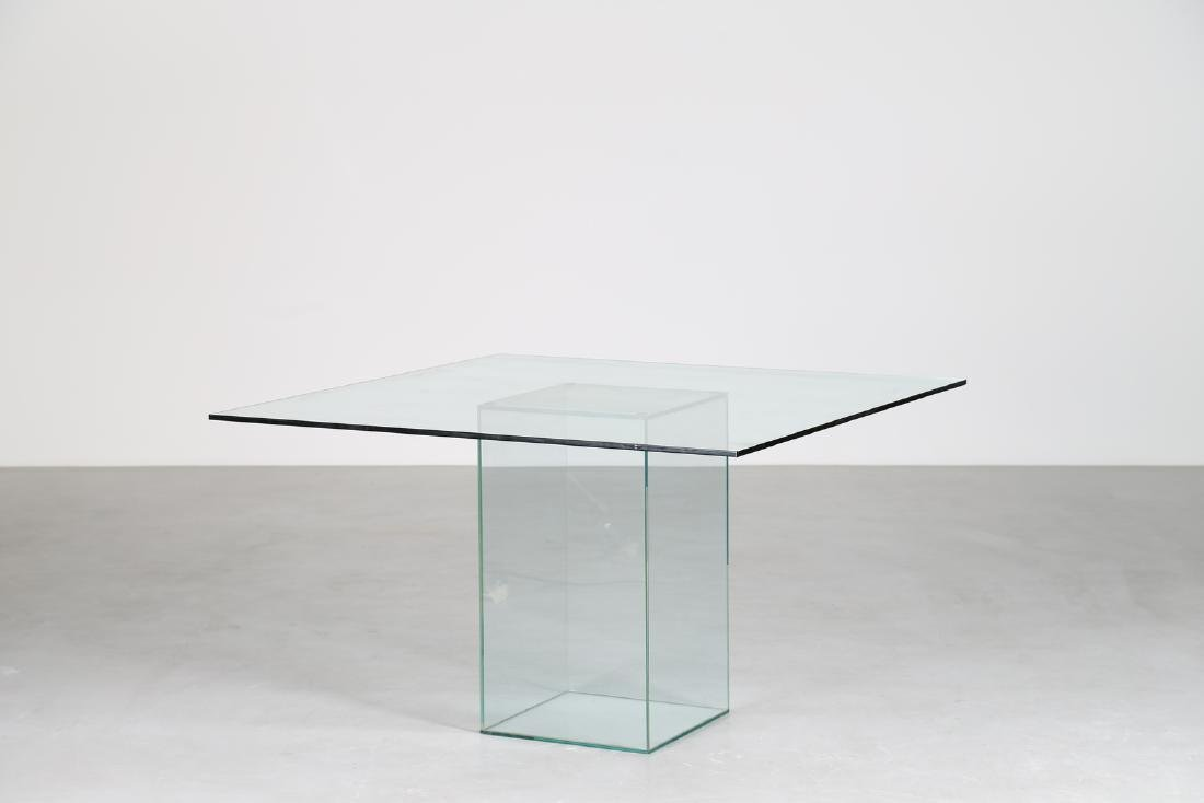 MANIFATTURA ITALIANA  Glass table, 1970s.