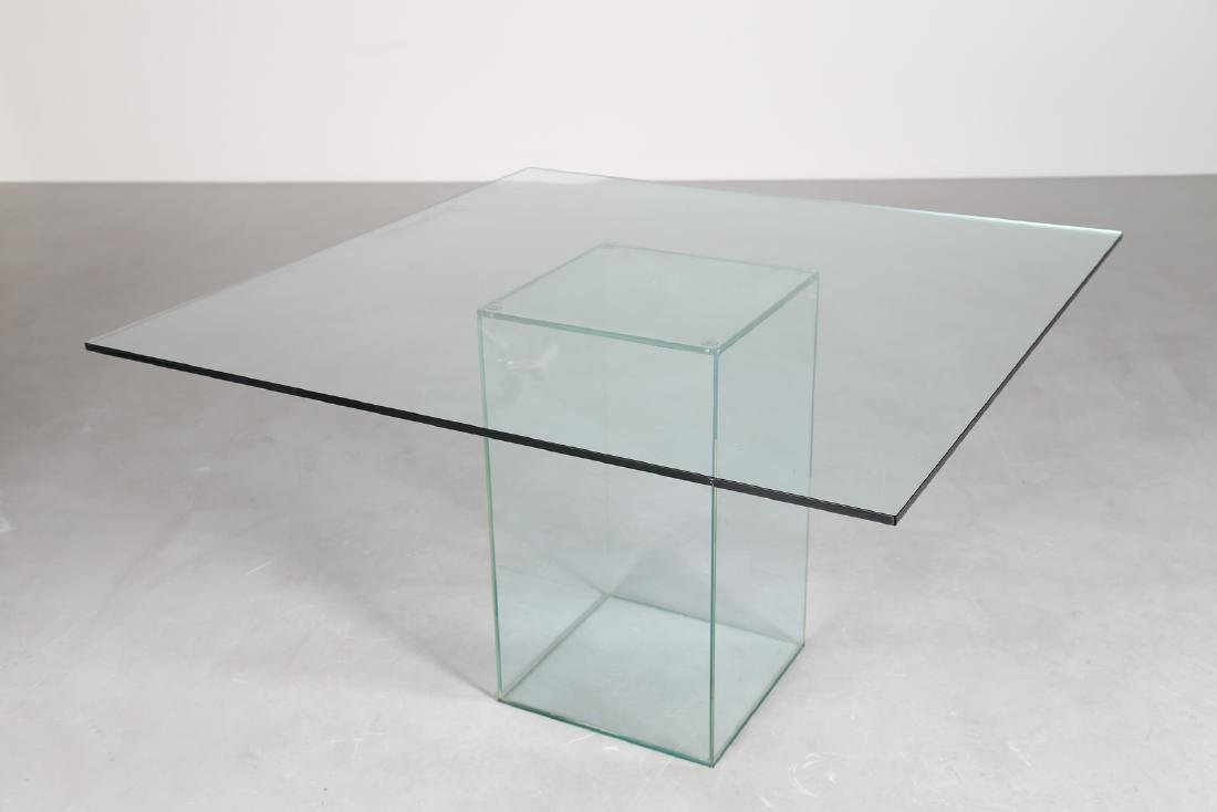 MANIFATTURA ITALIANA  Glass table, 1970s. - 2