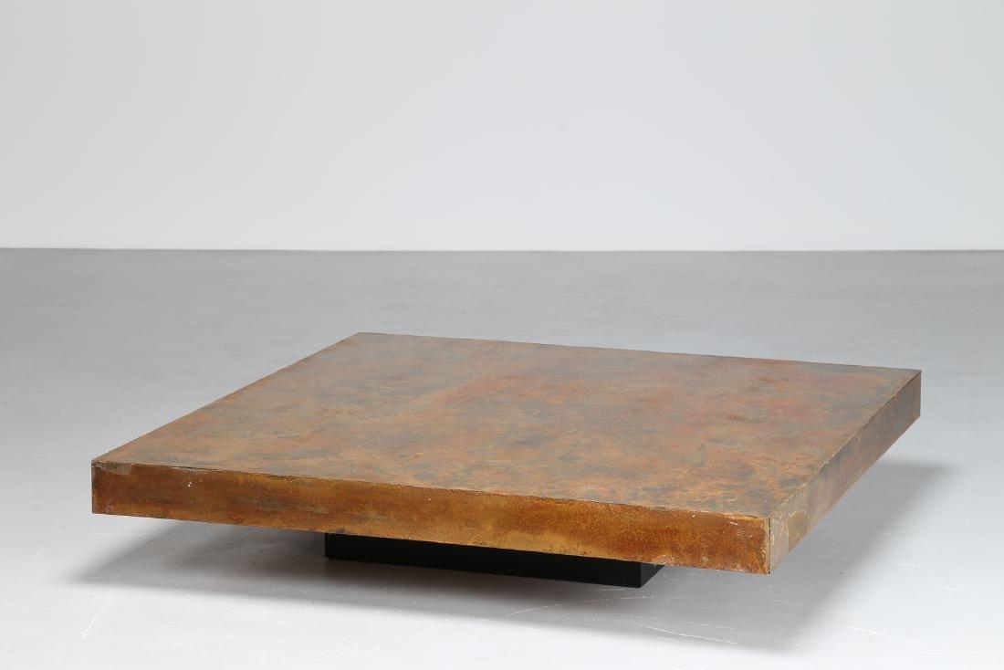 MANIFATTURA ITALIANA  Wood coffee table, 1970s.