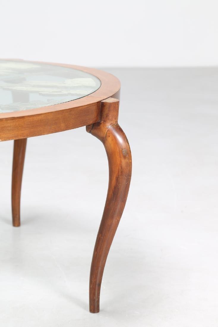 MANIFATTURA ITALIANA  Coffee table in walnut with - 2