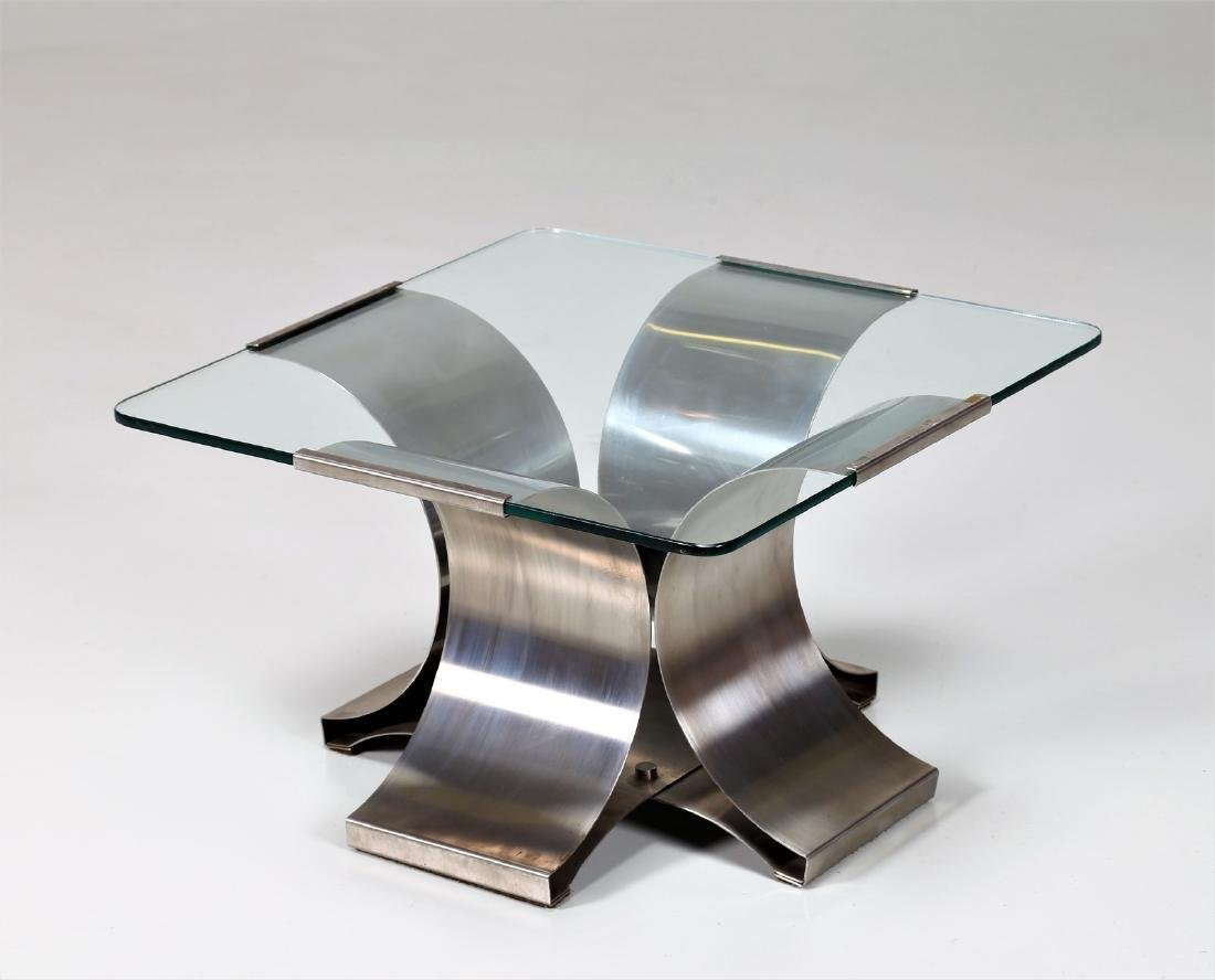 FRANCOIS  MONNET Distinctive chromed metal and glass