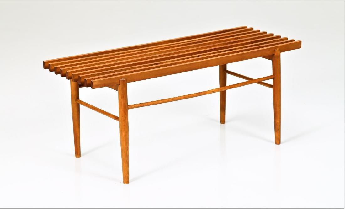 MANIFATTURA ITALIANA  Wood coffee table, 1960s.