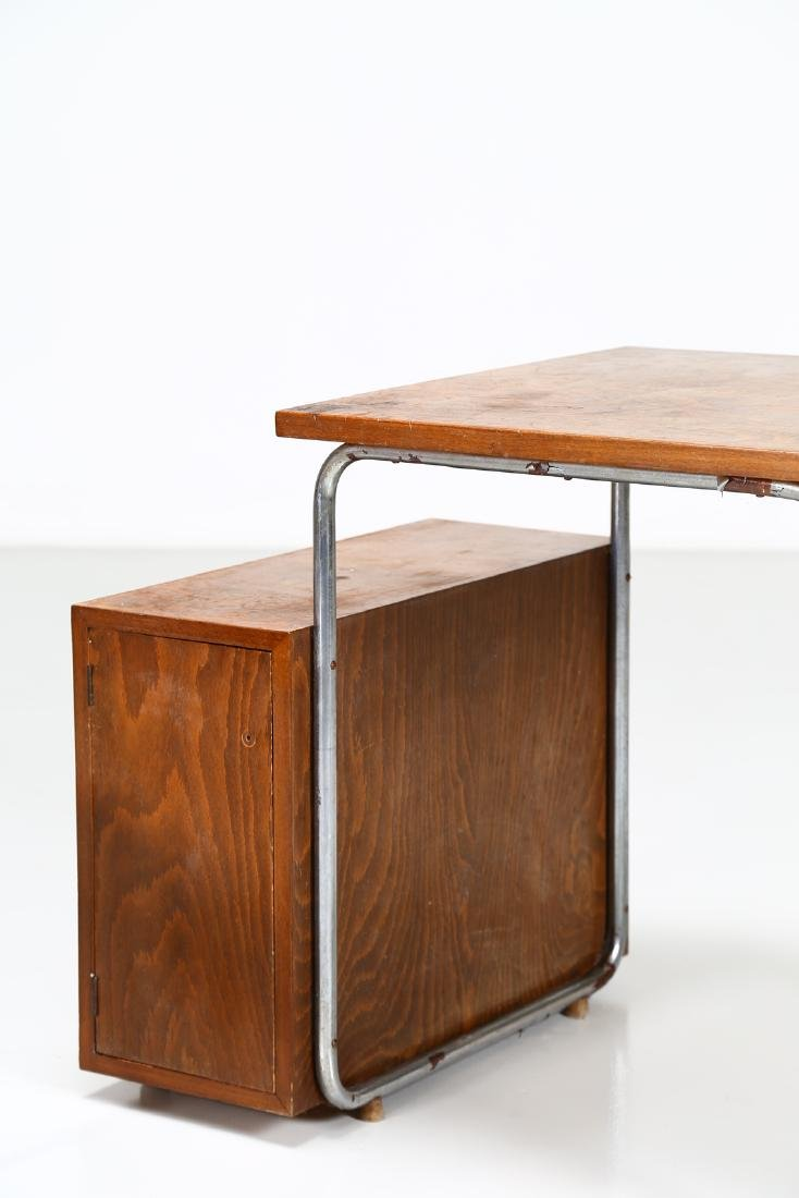 MILANO COVA Wood and chromed metal desk and chair, - 3