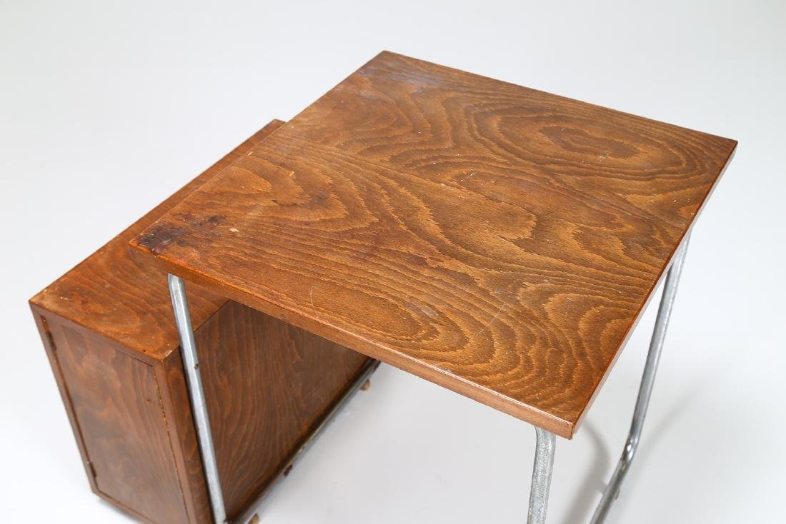MILANO COVA Wood and chromed metal desk and chair, - 4