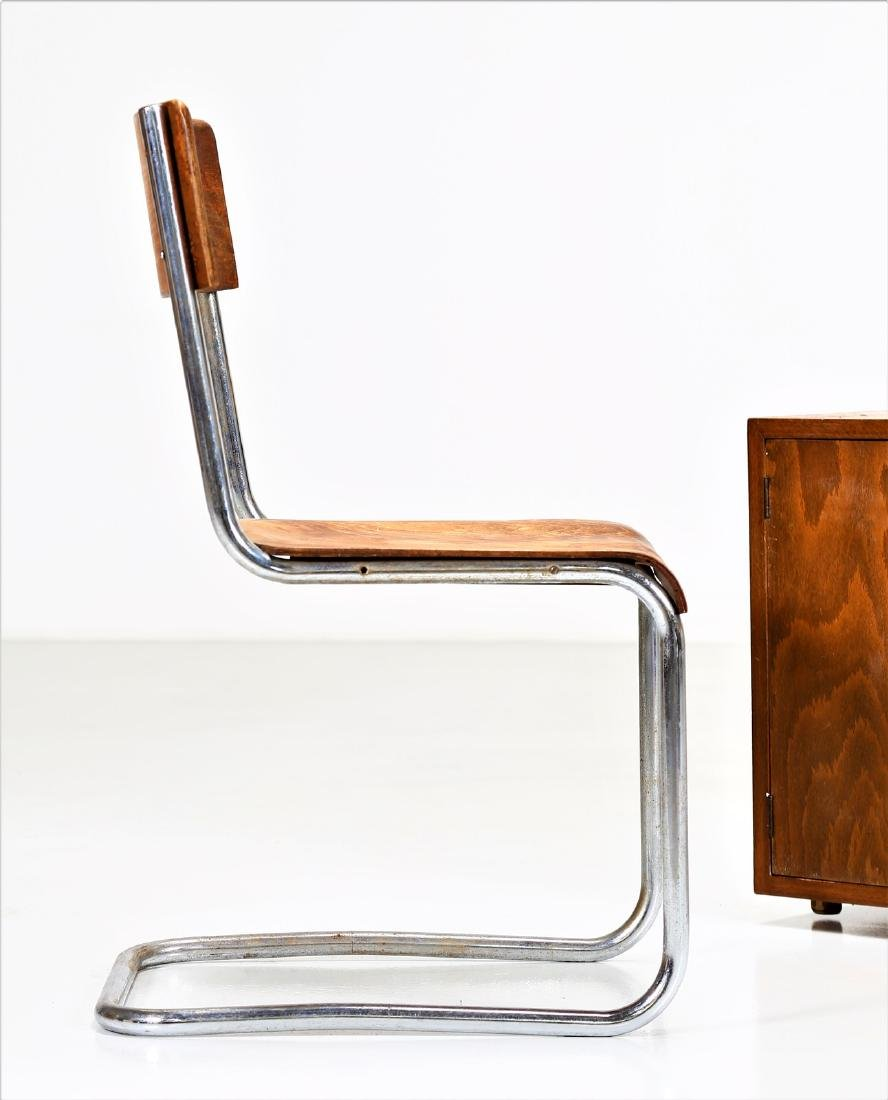 MILANO COVA Wood and chromed metal desk and chair, - 5