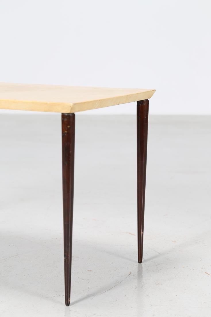 ALDO TURA Coffee table in lacquered wood and parchment, - 2