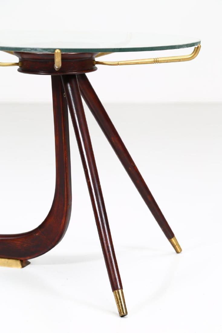 MANIFATTURA ITALIANA  Wood and brass coffee table with - 4